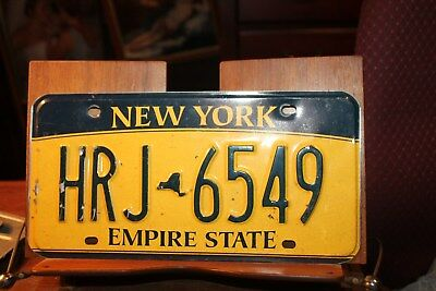 2010 New York Empire State License Plate HRJ 6549