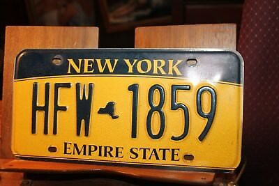 2010 New York Empire State License Plate  HFW 1859