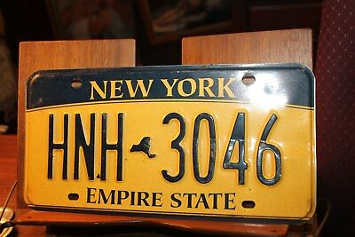 2010 New York Empire State License Plate  HNH 3046