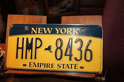 2010 New York Empire State License Plate HMP 8436