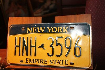 2010 New York Empire State License Plate HNH 3596