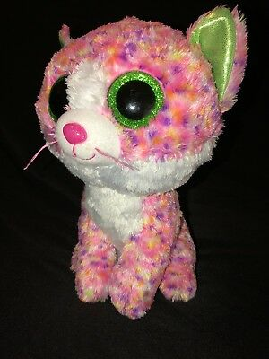 Ty Beanie Boos SOPHIE the Pink Kitty Cat Medium Buddy 9