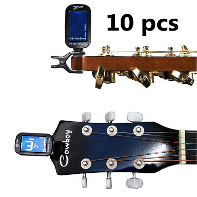 Joblot Wholesale 10 x LCD Digital Clip On Guitar Tuner Electronic Chromatic