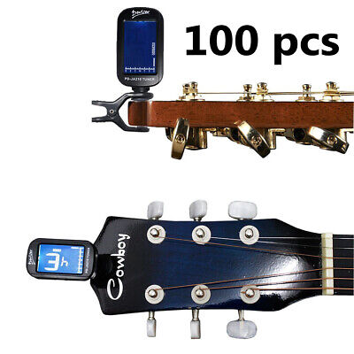 Joblot Wholesale 100 x LCD Digital Clip On Guitar Tuner Electronic Chromatic