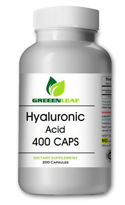 HYALURONIC ACID HIGH Potency 200mg 180 Capsules High Quality