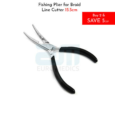 Fishing Braid Line Cutting Plier Multi Function Plier Curved Nose Hook Holder CE