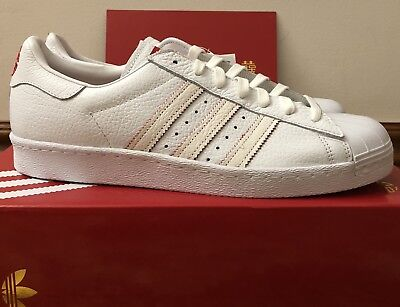 24391f2689ab Adidas Original SUPERSTAR 80s CNY Chinese New Year White Red DB2569 Size 12  Mens