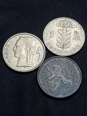 1944 BELGIQUE 1 CENT BEGIUM GERMAN OCCUPATION WWII year old coin collectable LOT