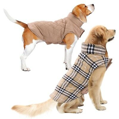 Dog Coat Jacket Waterproof Clothes Small Large S-XXL Harness Winter Reversible
