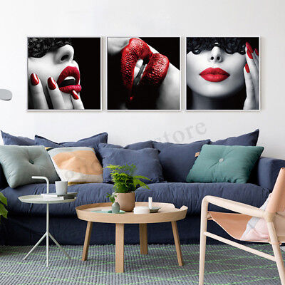 3Pcs Modern Canvas Print Painting Wall Art Picture Home Decoration Unframed