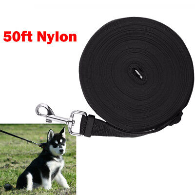 "Dog Pet Puppy Training Lead Leash 50ft 15m Obedience Recall 1"" wide Harness UK"