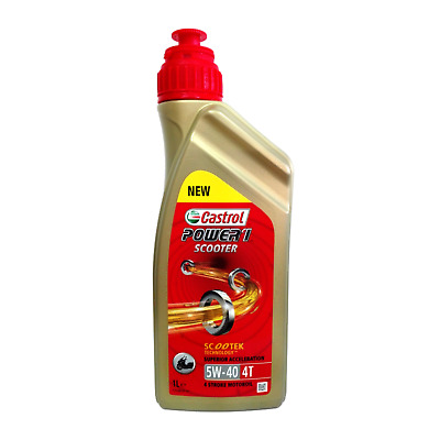 Olio Castrol Power 1 Scooter 4T 5W40 Lt.1 (Ex Act>Evo X-Tra) Scootek Oil 5-40