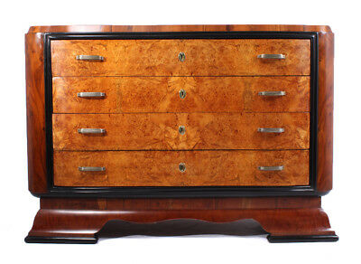 Art Deco Walnut and Maple Commode Italian 1930