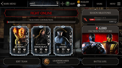 MKX Mobile Android & iOS  20,000 Souuls 20 Million Coins and 2000 Rubees