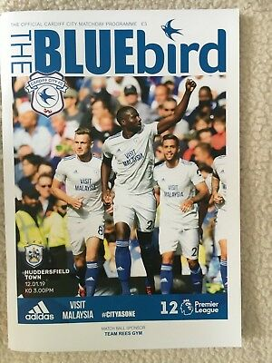 Cardiff City FC V Huddersfield Town - Matchday Programme Premier League