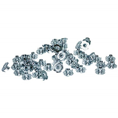 Durable Steel Hardware for Rock Climbing Holds Escape Climbing 100 Pack Screw-in T-Nuts Easy Installation with Screws Included