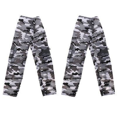 "2pc 1:6 Camouflage Pants Cloth Casual Pants for 12"" Soldier Figure Doll Toys"