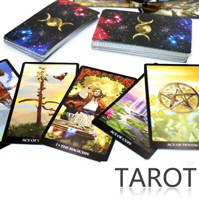 78Pcs/set Mystic Tarot deck Cards Read Your Fate Dreams Future Magic Card Tricks