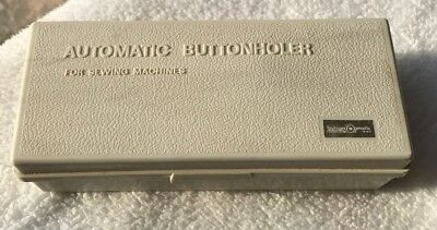 ***ButtonMatic Model BHA-L Low Shank Automatic Button Matcher Buttonholer ZigZag
