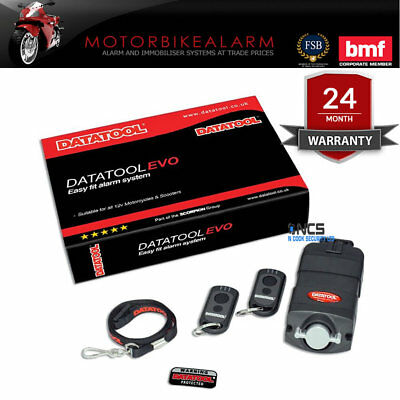 Datatool Evo Motorcycle / Motorbike / Bike Compact Self Fit Alarm System New