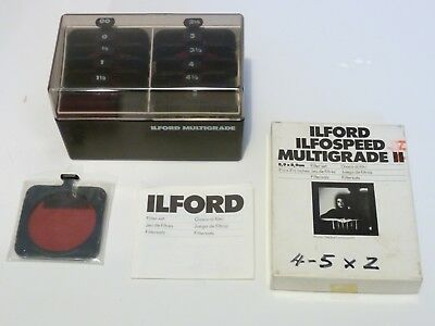 Collection of Ilford Infospeed Multigrade II Filter Sets - complete