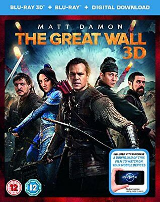 THE GREAT WALL digital download  with Matt Damon New (Blu-ray  2017)