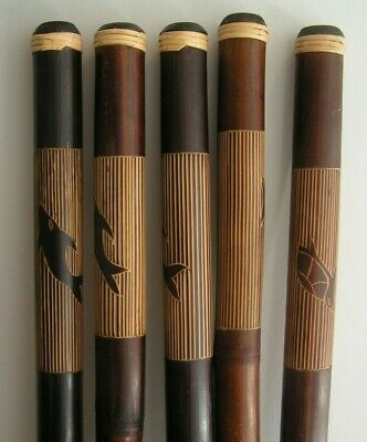 1 x Genuine Fair Trade Hand Finished Bamboo Didjeridoo Didge 120cm Etched Design
