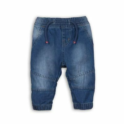 Minoti Babaluno Blue Baby Boy Cotton Jeans 0-3, 3-6, 6-9, 9-12 Months Old
