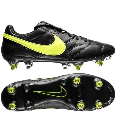 f3f399f75ad6 Nike Premier II SG-PRO Anti-Clog Black/Volt Leather Soccer Shoes Cleat
