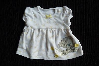Baby clothes GIRL premature/tiny<5lbs/2.3kg Tatty Teddy white,grey,yellow dress