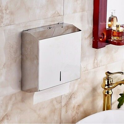 Towel Holder Paper Shelf Dispenser Stainless Steel Compact Hand With Lock Washro