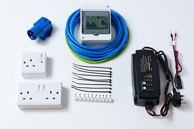 240V Mains Electric Hook Up Kit + 8A Intelligent Battery Charger T2/T4/T5 Bongo