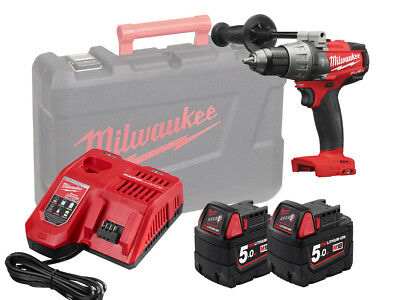 Milwaukee 18V Fuel Brushless Heavy-Duty Combi Drill - M18Fpd - 5.0Ah Pack