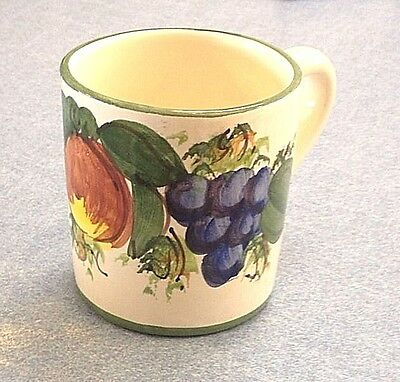 Vietri pottery-Green Enza Pattern Mug,Made/painted by hand in ITALY