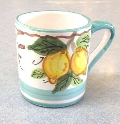 Vietri pottery-Light Green Sorrento Pattern Mug,Made/painted by hand in ITALY