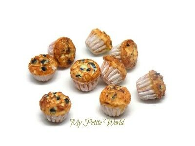 1:12th scale Dolls House Miniature Blueberry Muffin-Kitchen-Shop-Accessory