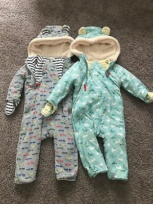 8efee416af75 BABY BODEN COZY All in One Fleece Lined Bear Print Footy Outerwear ...