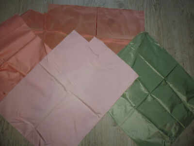 lot 4 coupons tissu ameublement 2 soie et divers french fabric silk