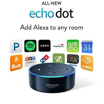 Amazon Echo Dot 2nd Generation w/ Alexa Voice Media Device - Black