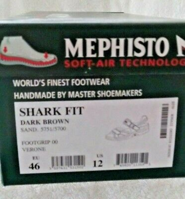 07c87be5046d MEPHISTO SHARK SANDAL Men EU 46 US 12 13 Brown Black NEW in Box msrp  289