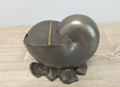 Late 1800s Antique Pewter Under Silver Plate Shell Form Spoon Warmer, Spoon Bath