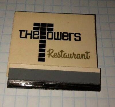 Vintage Full Matchbook The Towers Restaurant Laguna Beach California