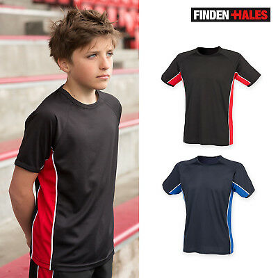 Finden & Hales Kids Performance Panel T-Shirt LV242- Sportswear Short Sleeve Top