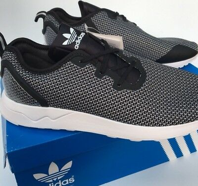 15e8cf1272097 adidas ZX Flux ADV Asymmetrical Running Trainers S79054 Black White BNIB UK  7.5
