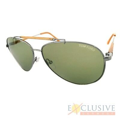 c3564716bab7d 664689646760. TOM FORD Mens Designer Chrome Sunglasses Silver Aviator RICK  TF378 ...