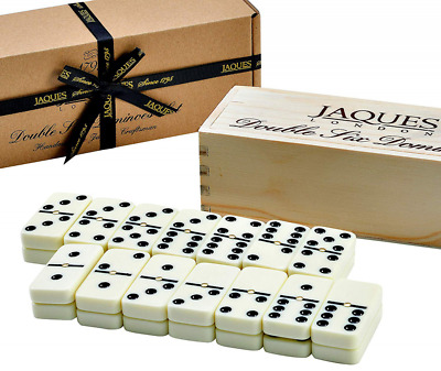 Dominoes Set - Jaques Domino Child and Adults Game - Double Six Dominos Club In