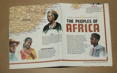 Vintage - NATIONAL GEOGRAPHIC SOCIETY MAPS - MAP of HERITAGE OF AFRICA - 1971