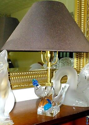 """Lamp Extremely Rare Crystal """"Pilmicos"""" Two 2 Birds Lamp  Xmas Special £500 Off"""