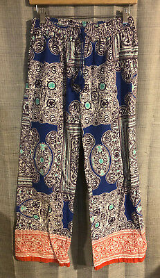 Womens Anthropologie ELOISE Multicolor Flannel Lounge Pajama Pants ~ MP (F30)