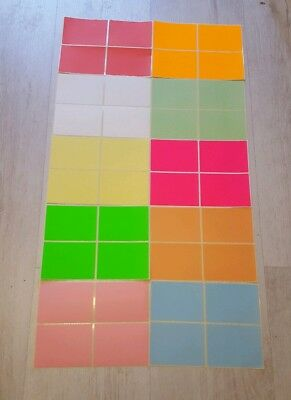 100 Large  Mixed Colour Stickers Self Adhesive  Labels
